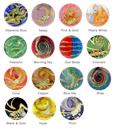 glass art pet cremation healing stone color chart