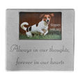 Pet Photo Rectangle Stone Marker with sentiment