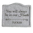 always in our hearts pet memorial stone