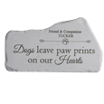 Memorial Mountain Stone- Dogs Leave Pawprints
