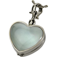 Pet Urn Jewelry Victorian Glass Locket, Lock of Fur Glass, Heart
