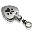 urn opening of paw my heart stainless steel pet cremation jewelry