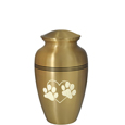 "Pet Urn: Golden Classic- 6"" shown with engraving"