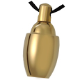Pet Cremation Jewelry: Solace Brass Mini Urn