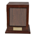 Front shown of Elegant Photo Wood Pet Urn