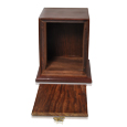 Elegant Photo Wood Pet Urn shown with open lid