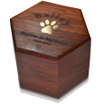 Additional view paw print hexagon urn