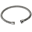 Sterling Silver Rhodium-plated Bracelet with magnetic clasp