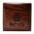 Wooden Pet Keepsake Urn top engraved into wood
