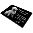 "Granite Photo Pet Grave Marker 3/8"" thick side view"