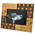 Paw Print Memorial Photo Frame with black and white art print
