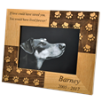 Paw Print Memorial Photo Frame with engraved sentiment