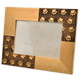 Paw Print Memorial Photo Frame with no personalization