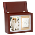 pet memorial wood memory box with open lid