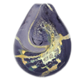 Glass Art Pet Cremation Jewelry in plum or purplish colors