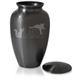 sassy cats large cat urn shown with threaded lid