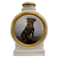 Custom Dog Portrait in Oil Ceramic Urn
