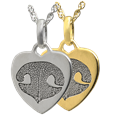 Petite Heart Noseprint Jewelry in silver or gold