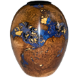 Black Cherry Burl with Ebony Lid Pet Urn
