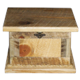 Rustic Ponderosa Pine Pet Urn with latch