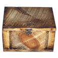 Rustic Ponderosa Pine Box urn for large dog