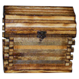 Rustic Wood Cabin Urn for large dogs