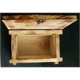 interior of pine wood pet urn