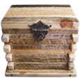 Rustic Natural Wood Log Cabin Box Pet Urn