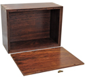 Perfect Wooden Box Photo Frame Pet Urn XLarge shown with open lid