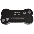 Granite Bone Pet Marker shown with text and clip art