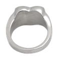 Back shown of Pet Memorial Jewelry Premium Stainless Steel Heart Ring