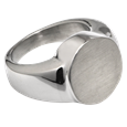 Pet Cremation Jewelry Premium Stainless Steel Round Ring