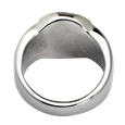 Back shown of Pet Memorial Jewelry Noseprint Stainless Steel Round Ring