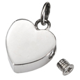 Remembrance heart shown with opening urn pet cremation jewelry