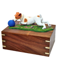 Additional view of Jack Russell Terrier Ball on Grass- Brown & White urn