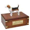 Beagle Figurine Wood Urn