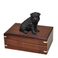 Shar Pei Black Dog Figurine Urn
