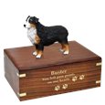 Australian Shepherd Tri-color Dock Urn front engraved with gold fill