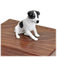 Detail of Jack Russell Terrier Black & White -Sitting figurine