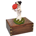 Playful Jack Russell Terrier pet urn