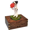 Playful Jack Russell Terrier engraved urn