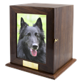 Elegant Photo Wood Large Dog Urn