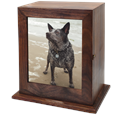 Elegant Photo Wood Medium Dog Urn