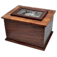 Dog Photo Wood Urn