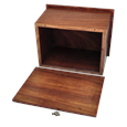 Photo Wood Pet Urn shown with open lid