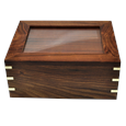 Large Wooden Box Pet Urn with Photo Window shown front shown