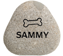 Pet Memorial Garden Keepsake Stones - Natural River Rock - Small