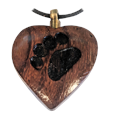 ood Heart with Paw Print Pet Cremation Jewelry Pendant