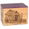 Dog House Wood Urn