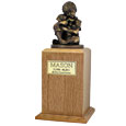 Faithful Friends Cremation Wood Dog Urn - Small